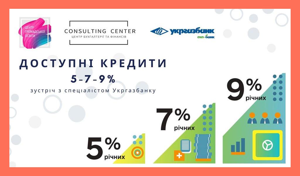 Доступні кредити 5-7-9%