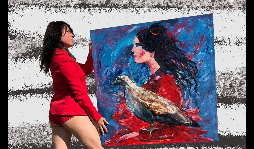 Закриття виставки Жінка-птаха