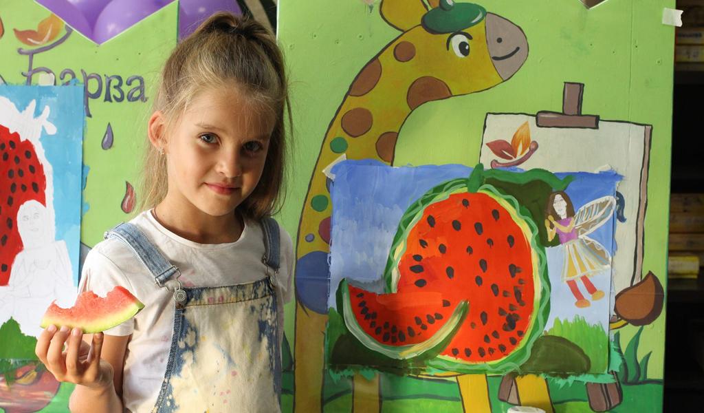 Уроки малювання для дітей: Фруктовий тиждень