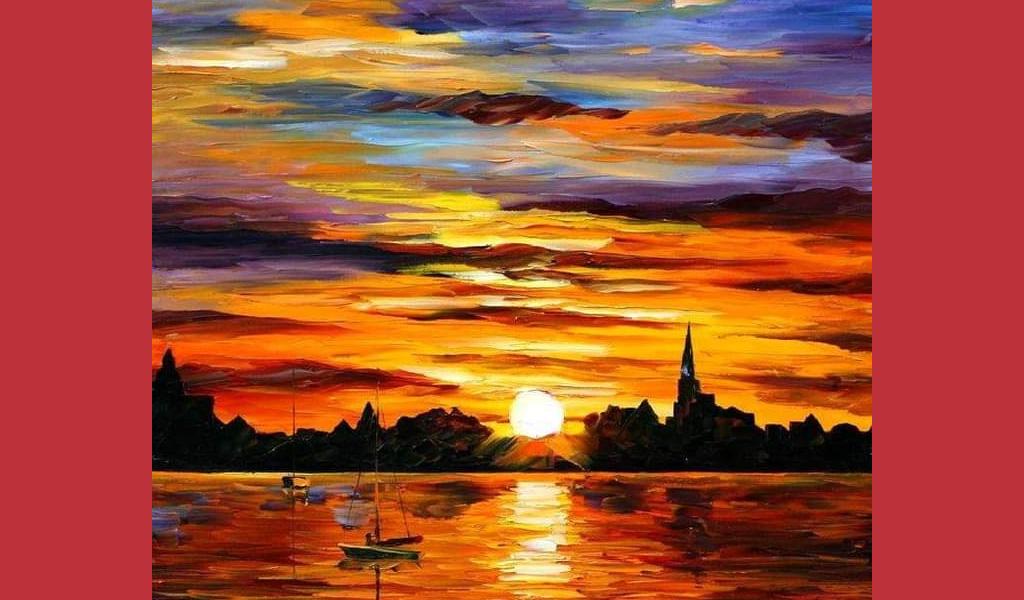 """Майстер-клас із живопису для дорослих """"Захід сонця"""""""